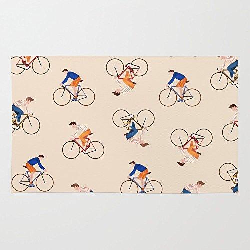 Society6 Bike Pattern Rug 3' x 5'