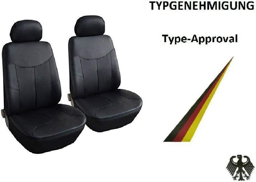 A1 2 Vordere Auto Sitzbezug Sitzbezüge Schonbezüge Schonbezug Schwarz Kunstleder Auto