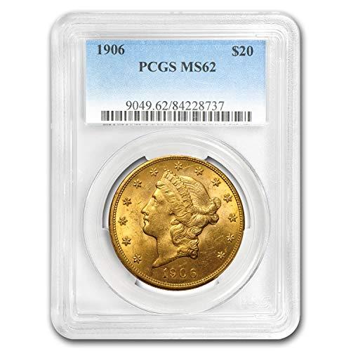 1906 $20 Liberty Gold Double Eagle MS-62 PCGS G$20 MS-62 PCGS