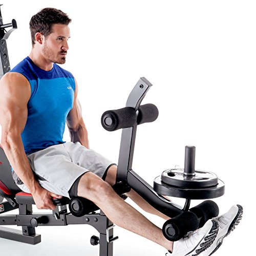 Marcy Olympic Weight Bench For Full Body Workout Barbell