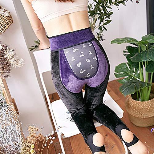 Donna Leggings Vita Controllo Da Sportivo Allenamento Della Alta Viola Pancia Pantalone Morbida Bozevon 8dqzw66
