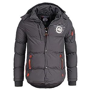 Geographical Norway VERVEINE Men – Doudoune à Capuche Chaude pour Homme – Blouson Manches Longues – Manteau Hommes Chaud…