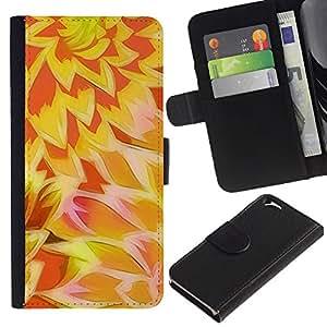 For Apple Apple iPhone 6(4.7 inches),S-type® Sun Yellow Orange Pattern - Dibujo PU billetera de cuero Funda Case Caso de la piel de la bolsa protectora