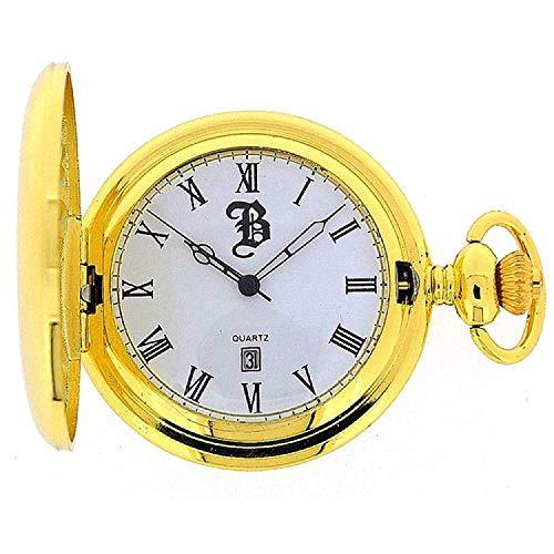 - Boxx Goldtone Gents Date Pocket Watch on 12