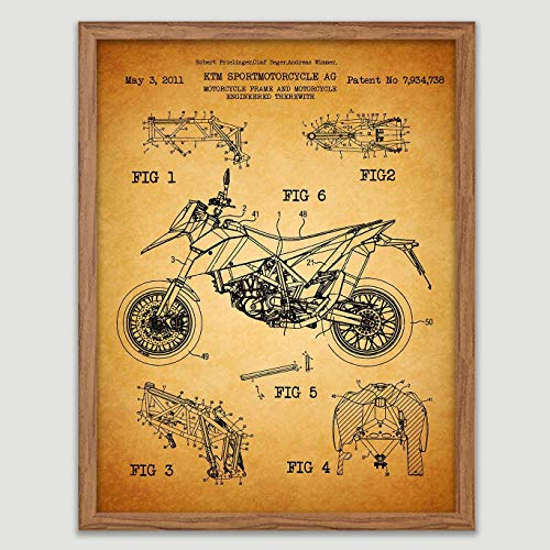 KTM Motorcycle Watercolor Poster Motorsport Art Motocross Racer Print Motocross Rider Decor Motorbike Gift Idea Motocross Dirt Bike Wall Decor Great Gift for Motocross Rider