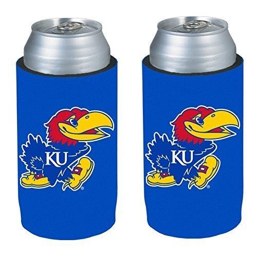 NCAA 2013 College Ultra Slim Beer Can Holder Koozie 2-Pack (Kansas Jayhawks)