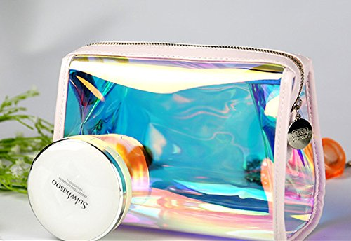 Andear Women's PVC Clear Hologram Transparent Clutch MakeUp Purse Bag for Girls by Andear (Image #6)