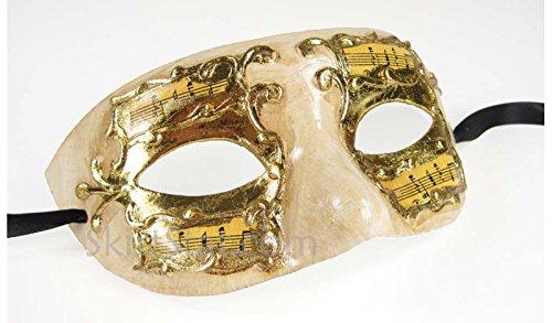 (Largemouth Men's Masquerade Mask (Yellow/Gold))