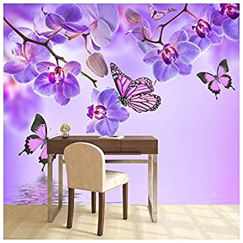 Amazon.com: azutura Purple Flower Wall Mural Floral ...