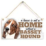 Meijiafei A House Is Not A Home Without A Basset Hound - Cute Basset Hound Dog Sign / Plaque For Basset Hound Gifts 10
