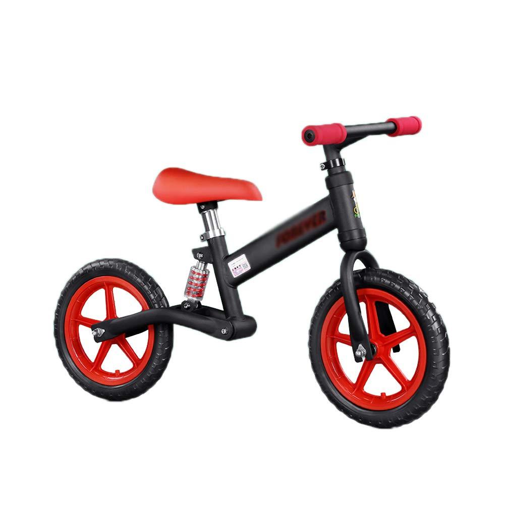 A la venta con descuento del 70%. Bicicletas sin pedales Bicicleta para niños, con Asiento Ajustable y y y Estructura de Acero de Alto Carbono, para niños de 2 a 6 años (Rojo + Negro)  calidad oficial