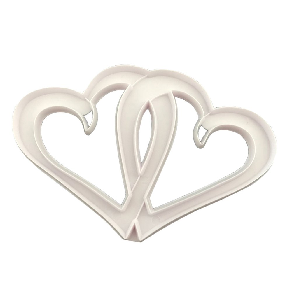 Finance Plan Clearance Sale Lovely Hollowed Dual-Heart Cake Mould DIY Sugarcraft Pastry Fondant Decor Mold