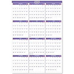 2020 Yearly Wall Calendar - 2020 Yearly ...