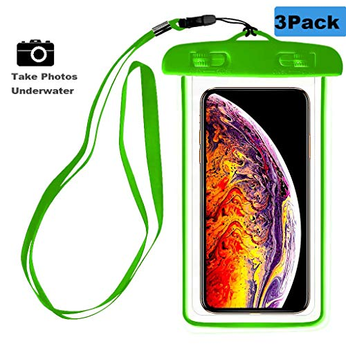(3Pack) Waterproof Case, CaseHQ Universal IPX8 Waterproof Phone