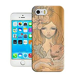 LarryToliver Fitted iphone 6 plus(5.5) Cases Cheap unique Customizable Art on wood logo back covers for a Christmas gift