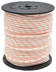 HOHOHANARO 50m 3mm Nylon Pull Starter Rope Recoil Engine Start Cord for Trimmer Lawn Mower