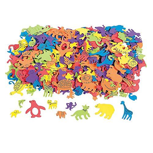 Fun Express - Fabulous Foam Adhesive Animal Shapes - Craft Supplies - Foam Shapes - Regular - 500 Pieces