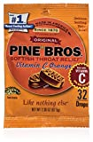 Pine Bros Throat Drops Bag, Orange Vitamin C, 32 Count (Pack of 72)