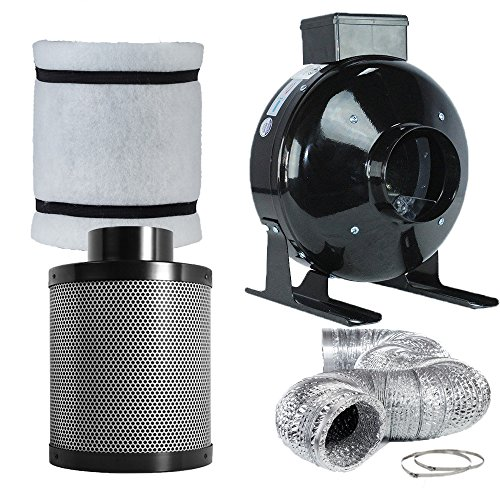 $110.71 indoor grow tent cheap TopoLite 4″ Inline Fan Carbon Air Filter Fan Ducting Combo for Grow Tent Kit and Growing System 2019