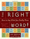 The Right Word!, Jan Venolia, 1580085075