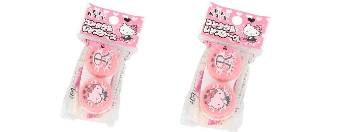3a61a4d86 Amazon.com: Sanrio Hello Kitty Contact Lens Case x 2 Set: Health & Personal  Care