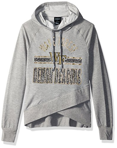 """NCAA by Outerstuff NCAA Wake Forest Demon Deacons Juniors """"Flow"""" Funnel Neck Hoodie, Heather Grey, X-Large(15-17)"""
