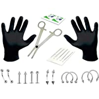 ShiningLove Beauty Tools for 20pcs/Set Disposable Piercing Kit Sterile Needle Nipple Tongue Body Ring Tool Photo Color 14G