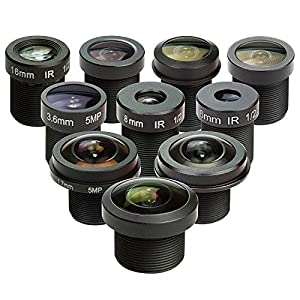 """Best Epic Trends 51ZTcuI4KbL._SS300_ Arducam M12 Lens Set, Lens for Raspberry Pi Camera (1/4"""") and Arduino, Telephoto, Macro, Wide Angle, Fisheye Lens Kit (10°- 200°) with M12 Lens Holder and Cleaning Cloth, Optical All-in-One"""