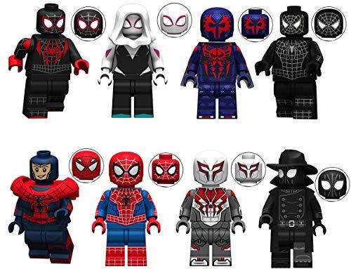 ORUWRW 8 Pieces Minifigures Super Heroes Set Building Blocks Action Figures Toy, Kids Gift ztos