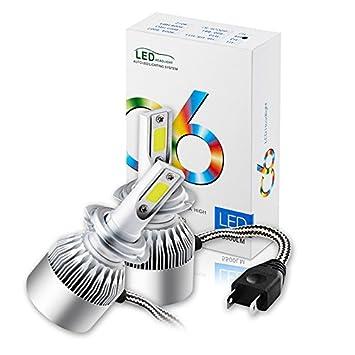 Willkon H7 72W 6000K 7600LM Turbo Car Kit de faros delanteros Lámparas blancas lámpara de alta potencia C6A: Amazon.es: Deportes y aire libre