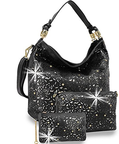Jual Zzfab Rhinestone Laser Cut Hobo Bag set - Shoulder Bags ... 57531ce233d8d