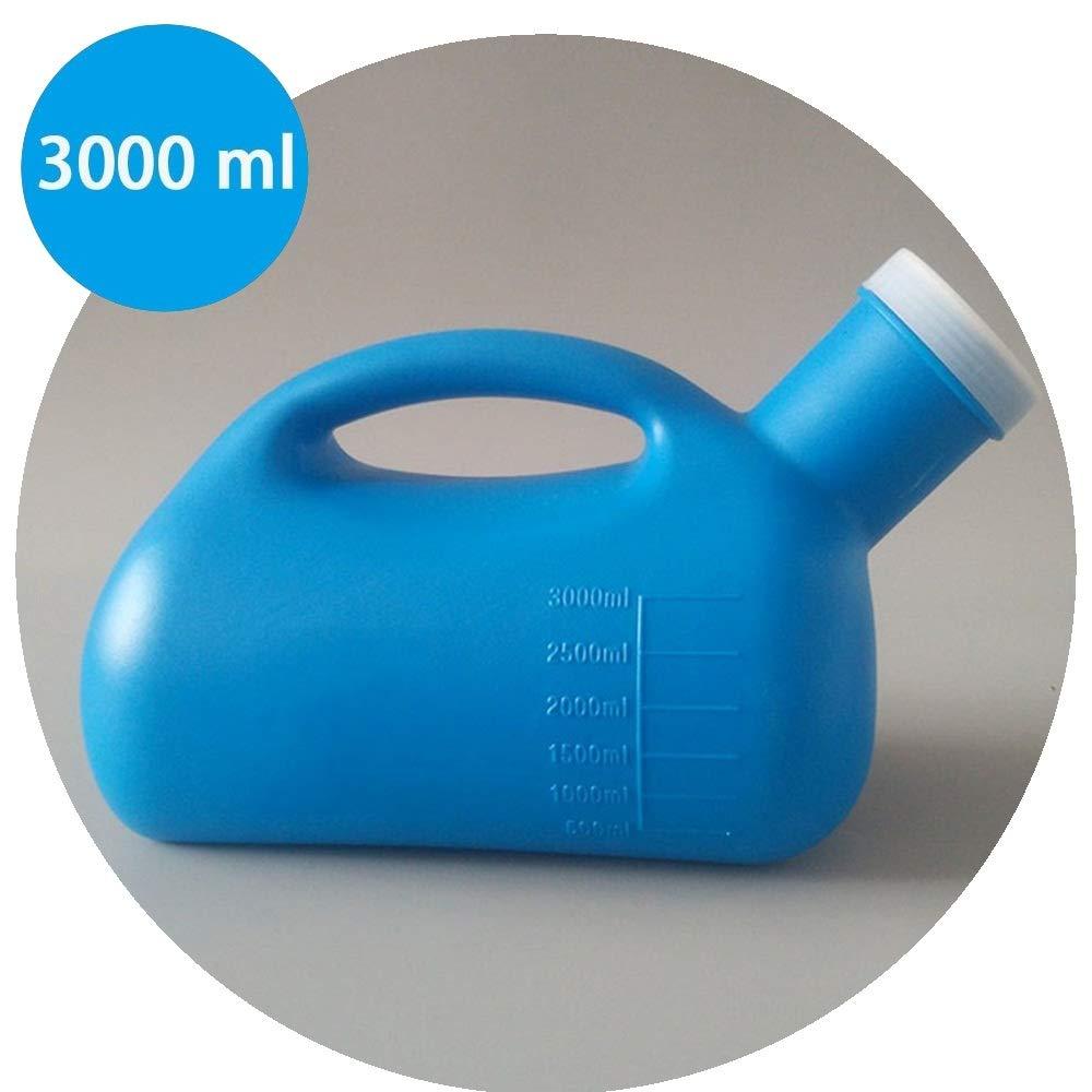 3 L Urinoir for Hommes Urinoir Portable Camping//Voyage//H/ôpital//Soins Grande Capacit/é Gros Calibre Color : White GAPING Bleu//Blanc Adulte Avec Couvercle Leakproof D/éodorant
