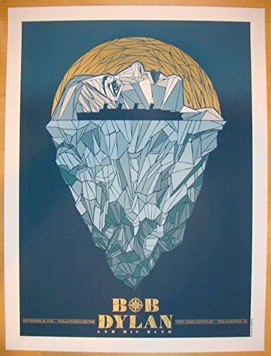 2012 Bob Dylan - Philadelphia Concert Poster by Todd Slater