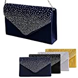 Padoora-Women-Sparkling-Rhinestone-Satin-Frosted-Evening-Bag-Handbag-Clutch-Purse