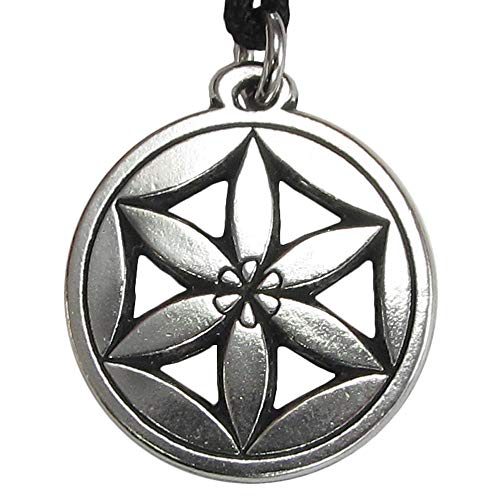 - DD Tem 1 Pc Pewter Pendant Jewelry Pagan Wicca Love Goddess - Flower of Aphrodite Necklace