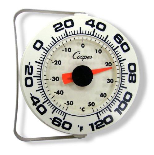 (Cooper-Atkins 255-06-1 Bi-Metal Wall/Storage Thermometer, -60/120°F Temperature Range)