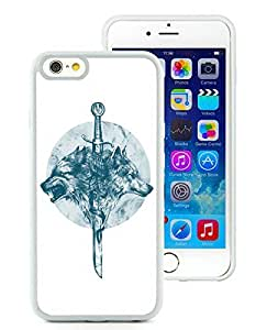 Beautiful Designed Cover Case For iPhone 6 4.7 Inch TPU With wolves White Phone Case