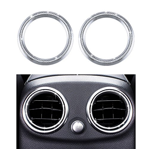 1797 Mercedes Accessories Benz Parts Trim Inner Back Row Rear Air Vents Condition Caps Covers Decals Interior Visors Decorations W204 X204 W166 X166 C Class GLK AMG Women Men Bling ()