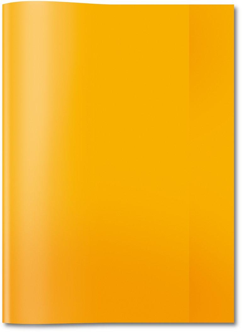 Herma 7494 Heftumschlag DIN A4, Kunststoff, transparent orange, 1 Heftschoner für Schulhefte