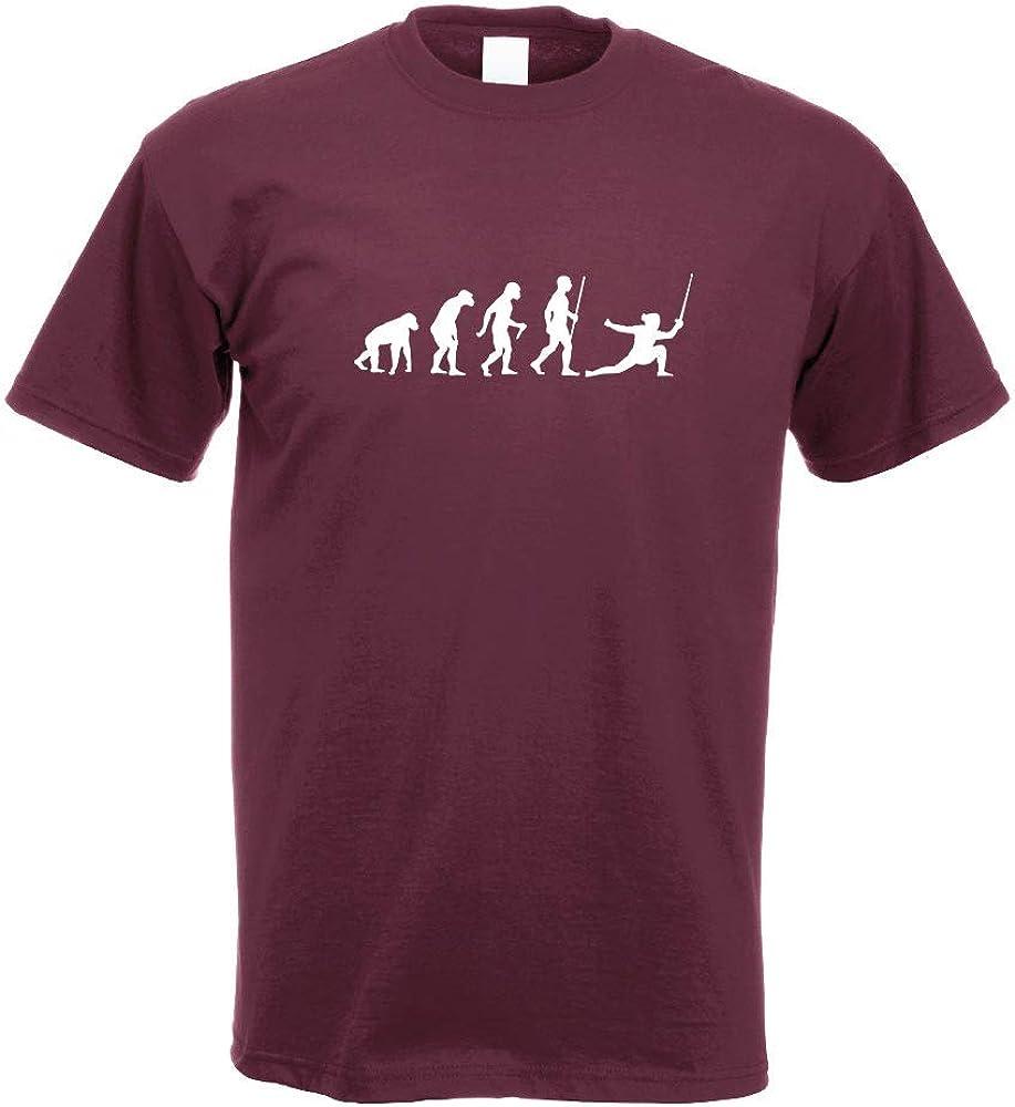 Kiwistar Escrime Degen Evolution T-Shirt imprim/é Design Print