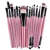 Makeup Brushes, 15 pcs/Sets Eye Shadow Foundation Eyebrow Lip Brush Makeup Brushes Tool (Pink)