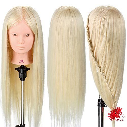 Neverland Beauty 26 Inch 30% Real Human Long Hair Hairdressing Cosmetology Mannequin Manikin Training Head Model with Clamp Can be makeup - #613