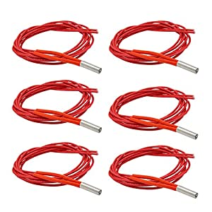 Hamineler 6PCS 12V 40W Single End Cartridge Heater Heating Tube 1m from Hamineler