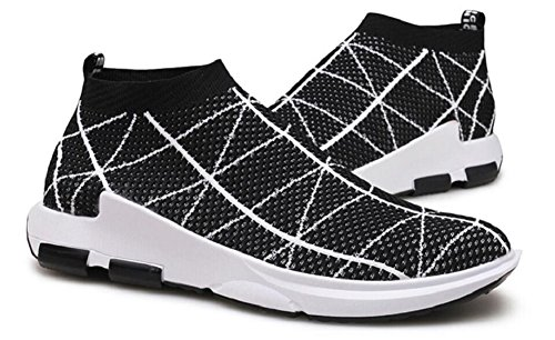 Herren Laufschuhe Free Transform Flyknit Fashion Sneakers von JiYe Schwarz-1