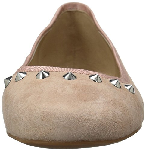 Flat Studded Evelyn The Suede Blush Petal Women's Ballet Fix wxTC7Oqa