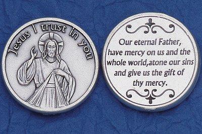 Catholic Prayer Cards Divine Mercy Pocket Coin