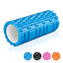"""ENKEEO Fitness Foam Roller Grid Textured Muscle Rollers 6"""" × 12"""" for Deep Tissue Myofascial Release, Sports Massage and Recovery, Trigger Point Therapy, Pilates & Yoga"""