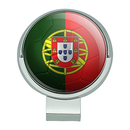 GRAPHICS & MORE Portugal Flag Soccer Ball Futbol Football Golf Hat Clip with Magnetic Ball Marker