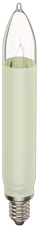 Hellum 902037, Ersatz-Schaftkerze Innen- und Aussenbeleuchtung, Sockel E 10, 12 V / 3 W, elfenbein, 3 auf Blisterkarte