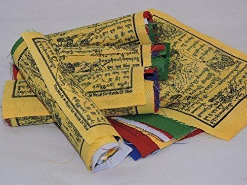 Tibetan Prayer Flags Wind Horse 50 Flags Five Rolls by Hands Of Tibet